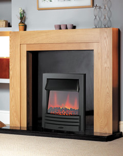 Eclipse Black Electric Fire