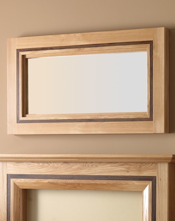 Hobart wood mirror l