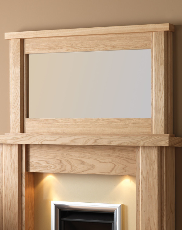 Nelso wood mirror l