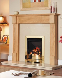 Solid Oak Kansas Fire Surround