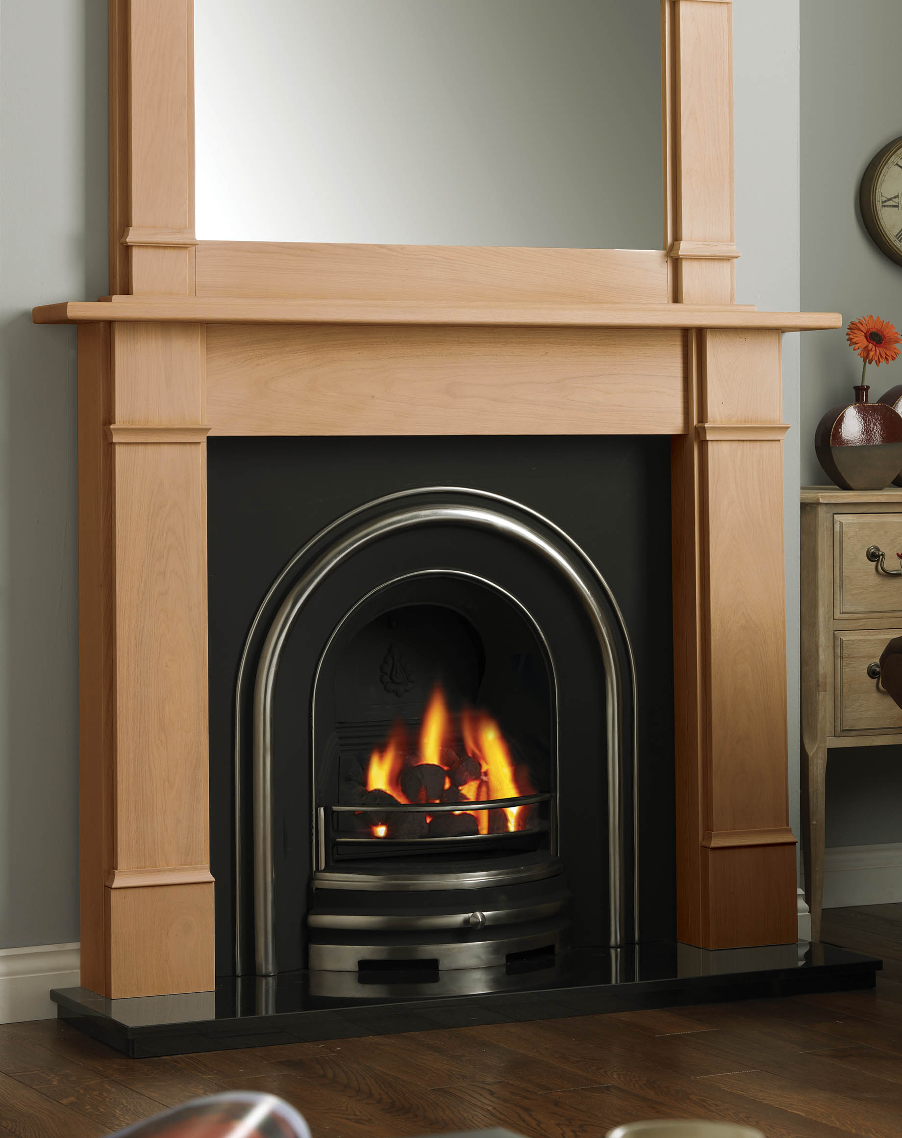 Fires And Surrounds Part - 15: Solid Oak Columbia