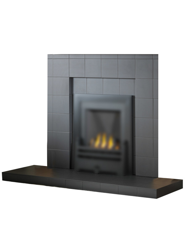 Recessed black tile cut out