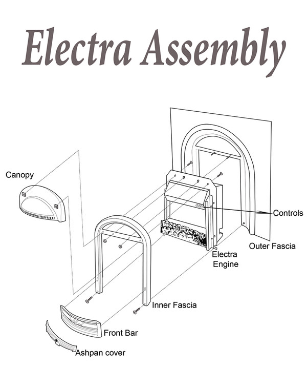 Cast iron w electra engine inset assembly