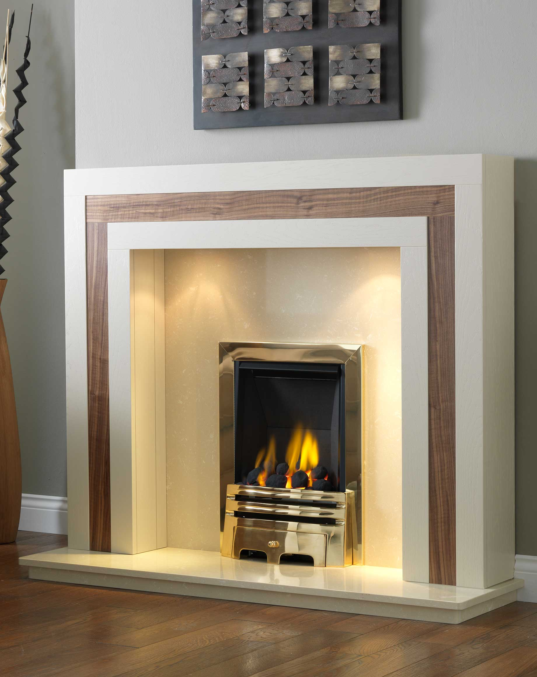 Calgary Wood Fire Surround available Solid Oak, or Real ...